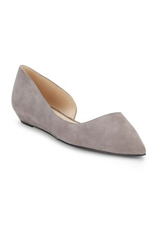 Nine West Leather D'Orsay Point Toe Flats