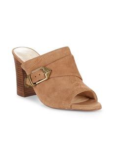 Nine West Betty Leather Peep Toe Sandals