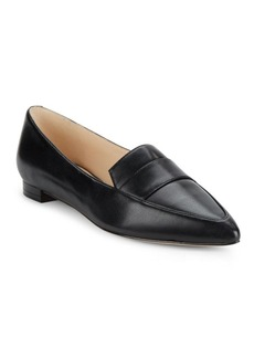Nine West Leather Point Toe Flats