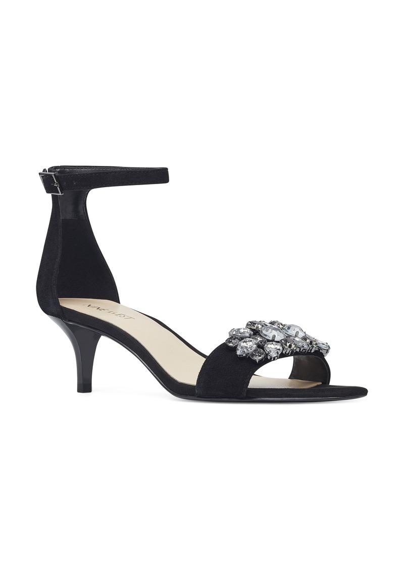 Nine West Lecia Embellished Ankle Strap Sandal (Women)