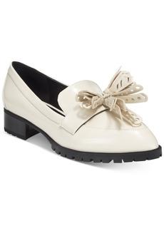 Nine West Leonda Tassel Block Heel Loafers Women's Shoes
