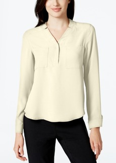 Nine West Long-Sleeve Crepe Top