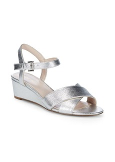 Nine West Lucy Leather Wedge Sandals
