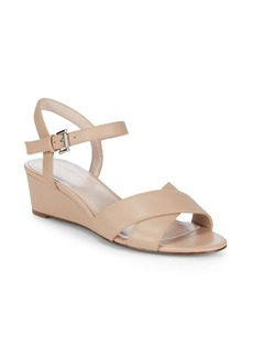 Lucy Leather Wedge Sandals