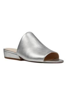 Nine West Lynneah Metallic Leather Slide Sandals