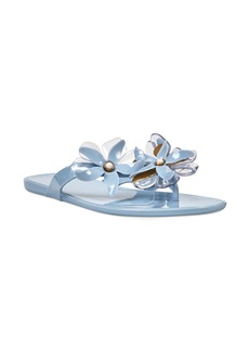 Nine West Mapilo Flower Embellished Jelly Flip Flop (Women)