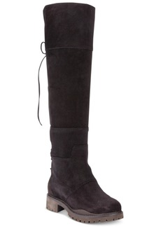 Nine West Mavira Back Lace-Up Over-The-Knee Boots Women's Shoes