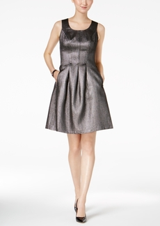 Nine West Metallic Fit & Flare Dress