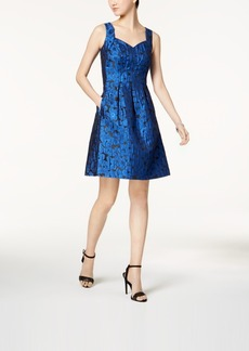 Nine West Metallic Jacquard Fit & Flare Dress, a Macy's Exclusive Style