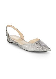 Nine West Metallic Slingback Flats