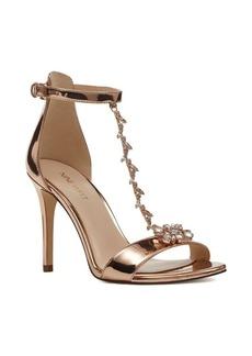 Nine West Mimosina Embellished T-Strap Dress Sandals