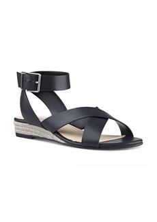 Nine West Mossa Cross Strap Wedge Sandal (Women)