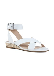 Nine West Mossa Cross Strap Wedge Sandal (Women)