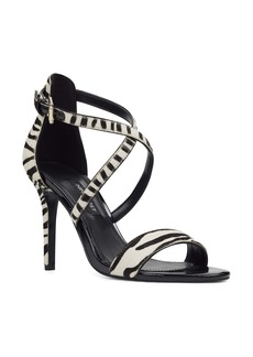 Nine West Mydebut Genuine Calf Hair Strappy Sandal (Women)