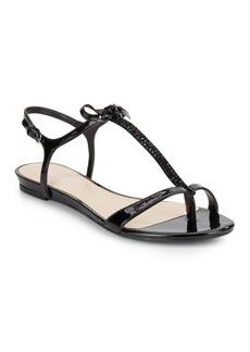 Nine West Odele Embellished T-Strap Sandals
