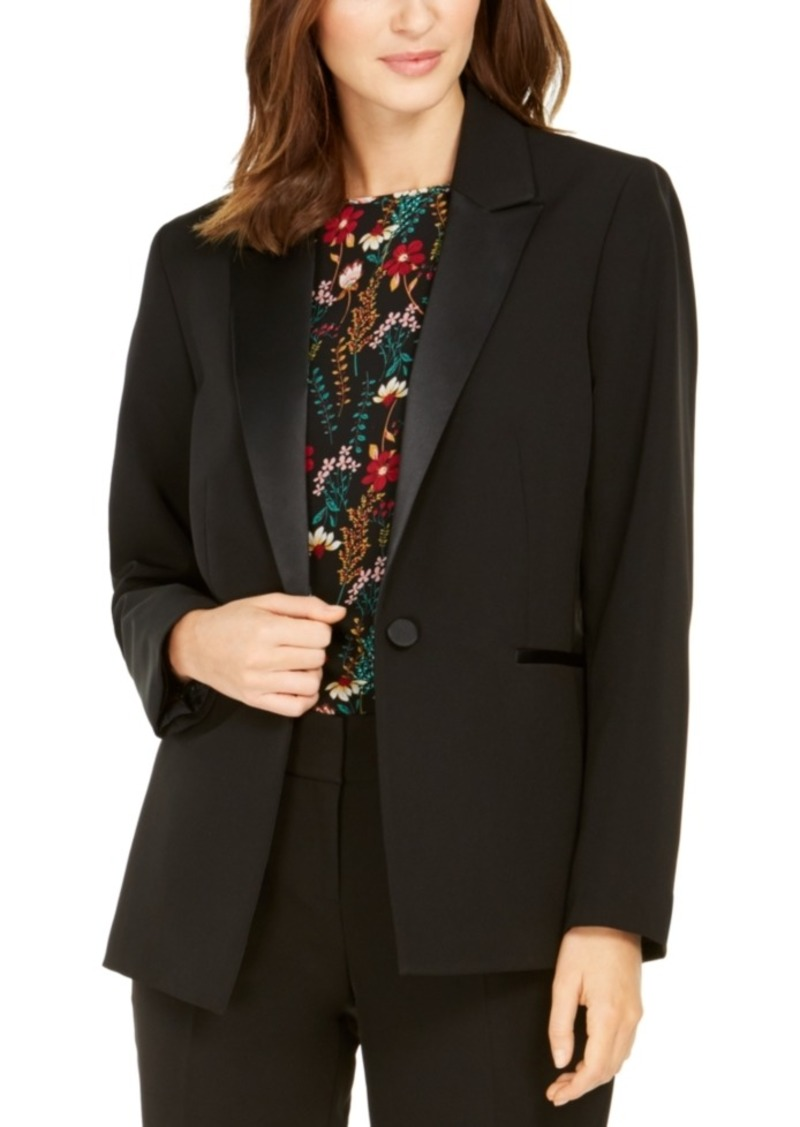 Nine West One-Button Tuxedo Jacket