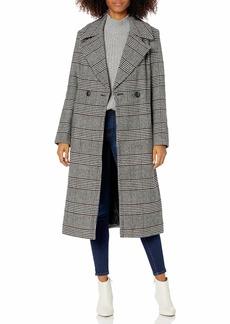 "Nine West Outerwear Women's 43"" Classic DB Long Wool Coat RED"
