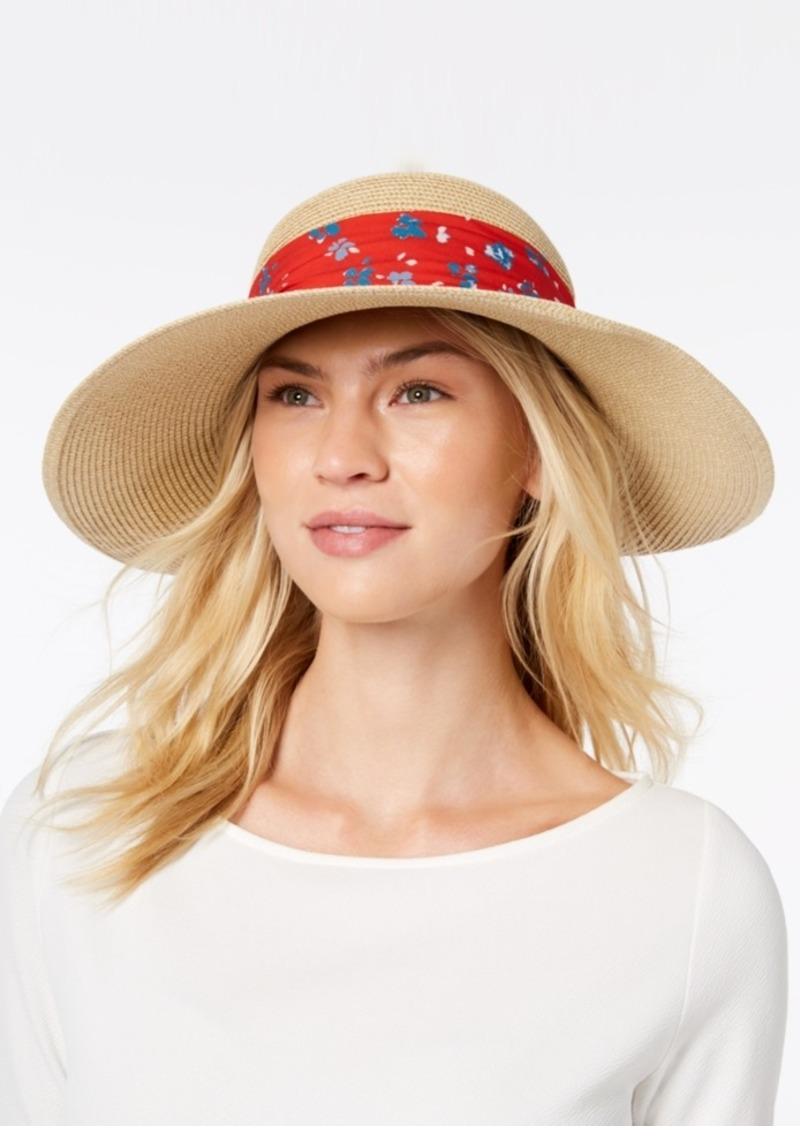 a2ec0850ed5f Nine West Nine West Packable Bow Scarf Floppy Sun Hat