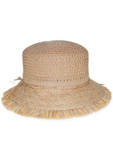 Nine West Packable Open Weave Bucket Hat
