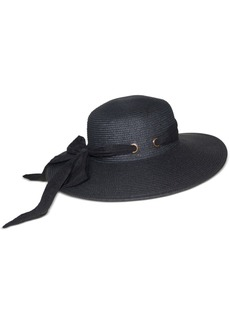 Nine West Packable Scarf-Trim Floppy Hat