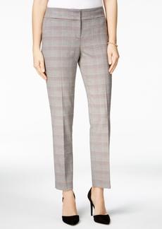 Nine West Plaid Straight-Leg Pants