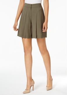 Nine West Pleated Crepe Shorts
