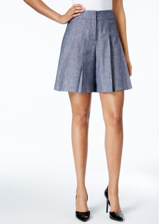 Nine West Pleated Twill Soft Shorts