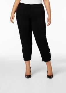 Nine West Plus Size Button-Hem Ankle Pants