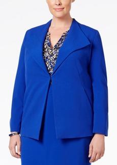 Nine West Plus Size Clasp-Front Blazer