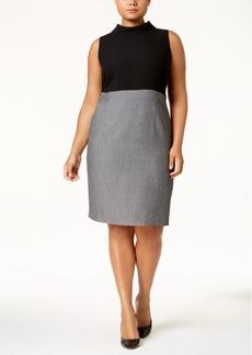 Nine West Plus Size Colorblocked Sheath Dress