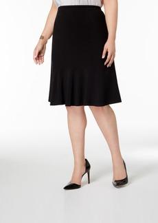 Nine West Plus Size Flared-Hem Skirt