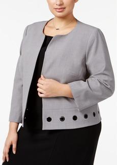Nine West Plus Size Grommet-Trim Jacket