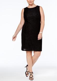 Nine West Plus Size Lace Sheath Dress