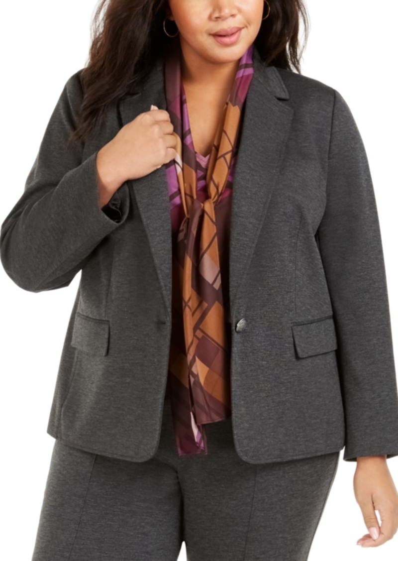 Nine West Plus Size One-Button Blazer