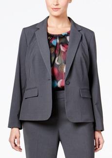 Nine West Plus Size One-Button Jacket