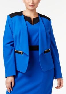 Nine West Plus Size Open-Front Blazer