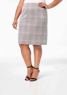 31b88d6875c9a Nine West Nine West Two-Tone Bi-Stretch A-Line Skirt Now  54.99