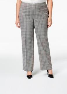 Nine West Plus Size Plaid Trouser Pants