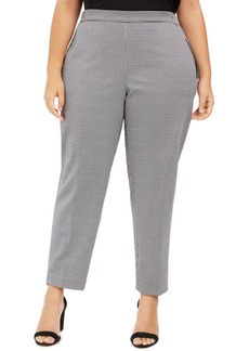 Nine West Plus Size Pull-On Houndstooth Pants