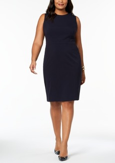Nine West Plus Size Seamed-Waist Sheath Dress