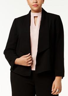 Nine West Plus Size Shawl-Collar Blazer