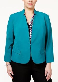 Nine West Plus Size Stand-Collar Jacket