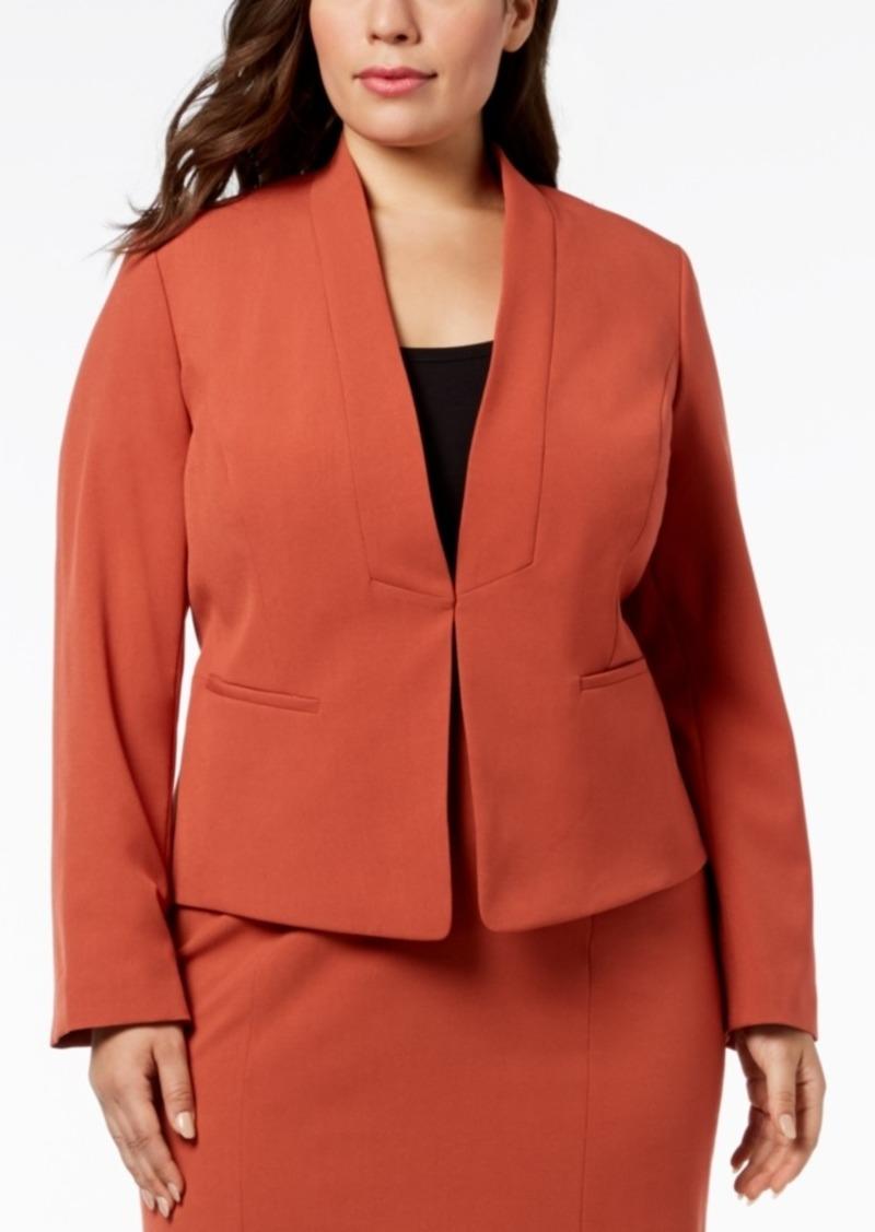 4cf5a0f9037cd Nine West Nine West Plus Size Stand-Collar Jacket