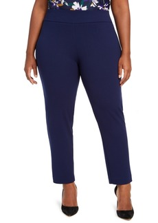 Nine West Plus Size Straight-Leg Pull-On Pants