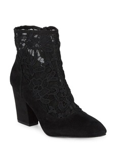 Nine West Pointed Lace Booties
