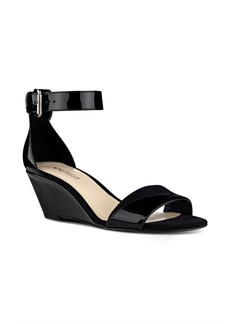 Nine West Pretty Sis Ankle Strap Wedge (Women)