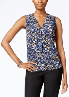 Nine West Printed Button-Front Blouse