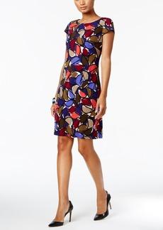 Nine West Printed Cap-Sleeve Dress