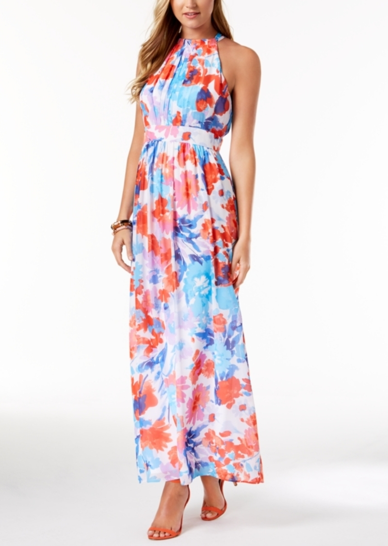 62f5fe65c3 Nine West Nine West Printed Halter Maxi Dress