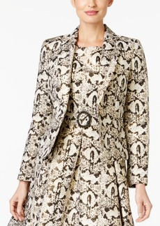 Nine West Printed Jacquard One-Button Blazer